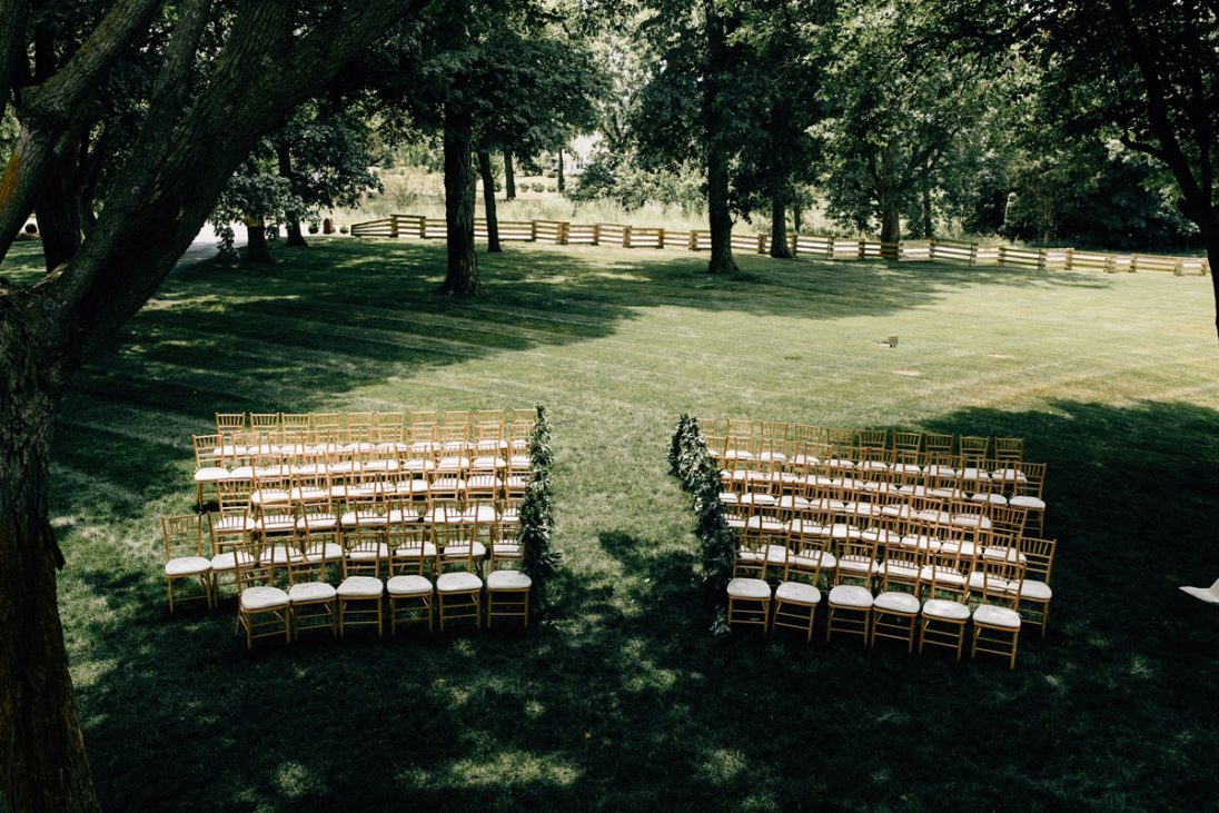 Ceremony outside on farm