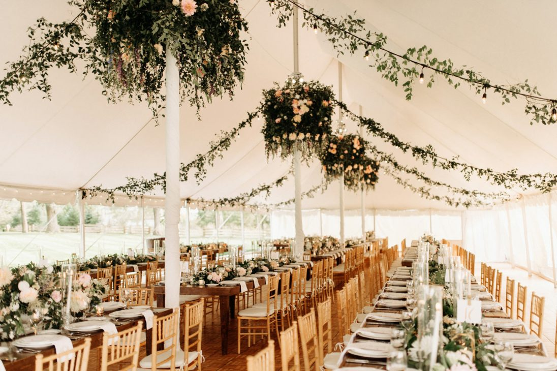 Interior of the tent pavilion
