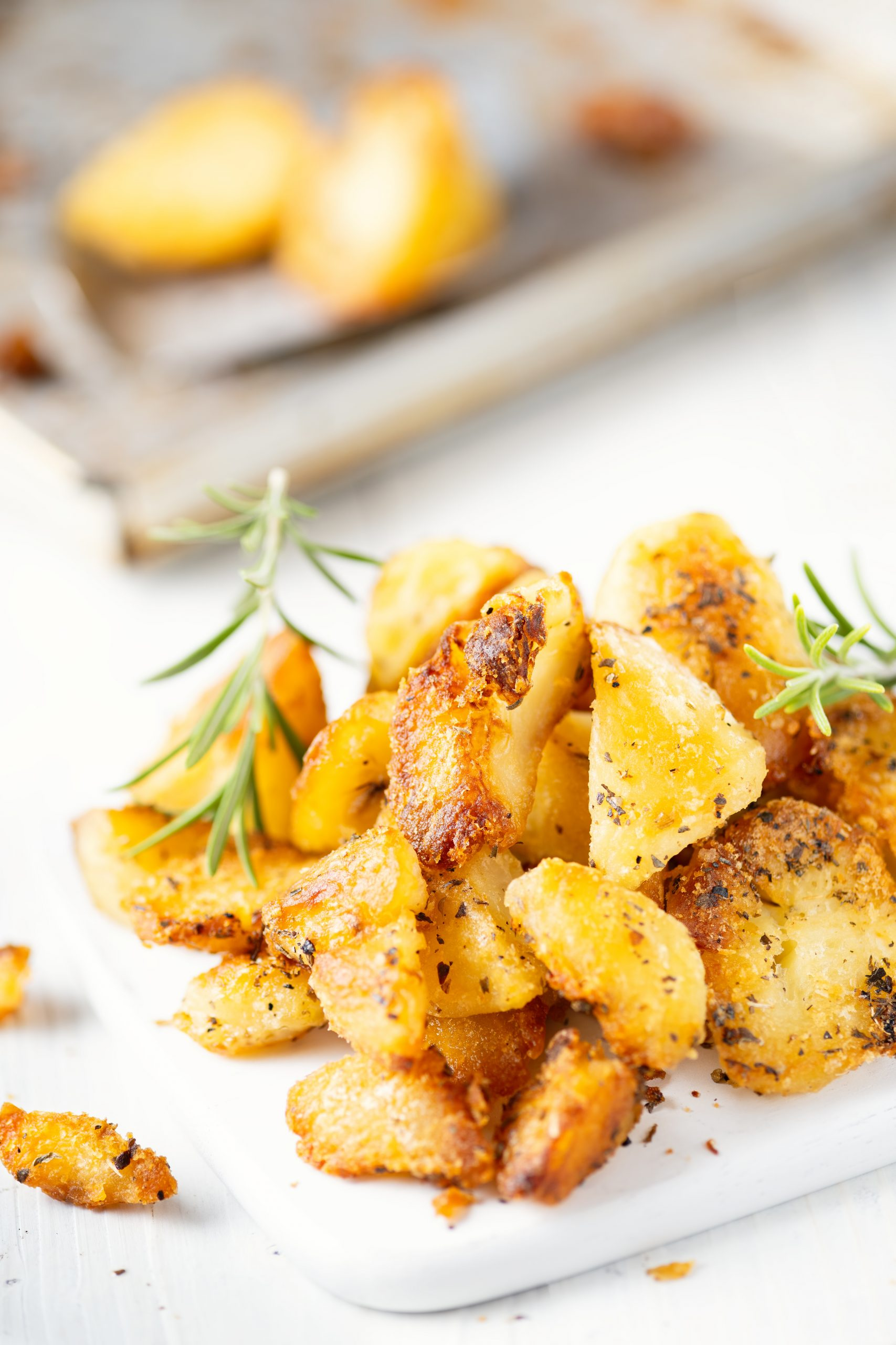 Golden english roasted potatoes