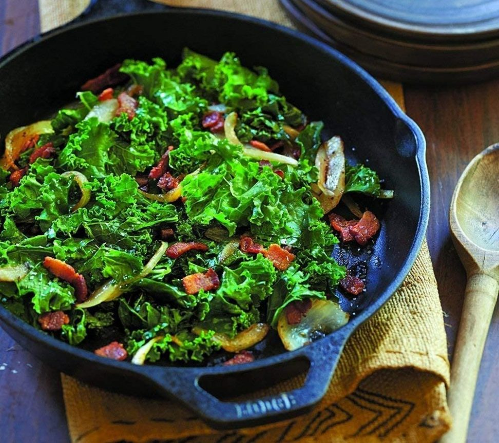 Image of salad in a cast iron skillet