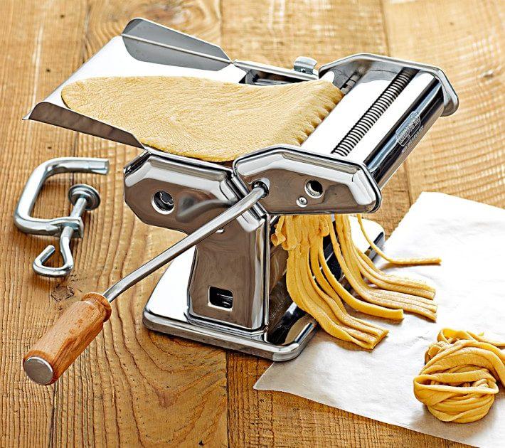 Image of Pasta in a Imperia Pasta Maker Machine