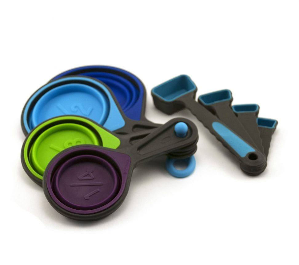 Image of Collapsible Measuring Cups and Spoons